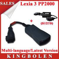 2014 Hottest Selling Lexia3 PP2000 For Citroen/Peugoet Diagnostic Scanner Multi-language Plus S.1279 Module Free Shipping