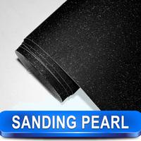 Black Pearl Powder Luster Vinyl Film for Car Body / Carbon Wrapping Vinyl Film / Pearl Vinyl Sticker / Size: 1.52 x 30 Meters
