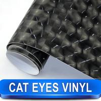 Car Exterior Styling Cat Eyes Black Eye Vinyl Wrap 1.52 X 30 Meter