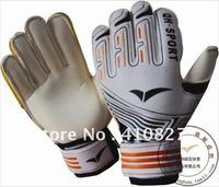 QH-526 LATEX Football Goalkeeper Gloves Anti-Slip Gloves RED ORANGE
