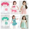 Free shipping 2013 dress Pink and Blue Baby Baby Dress/Girls' Dress/Loving Heart design