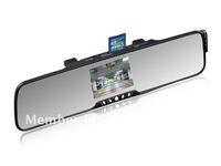 Bluetooth handsfree car kit rearview Mirror + 3.5''TFT bluetooth wireless backup camera + wireless earphone