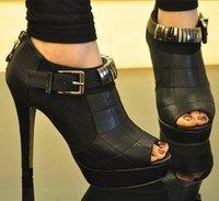 Free shipping 2014 new Roman high heel platform pumps shoes princess fashion sexy fish head  sandals