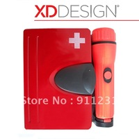 New Fashion Design!Medical kit [130 in1][RED][LUXURY]FIRST AID KIT,Wall box with LED flashlight,Survival kit, Earthquake Case