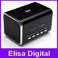Free shipping 100% original Music Angel speaker,mini speaker,portable MD05B speaker support tf card/usb disk/FM,RY9001