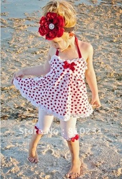 2013New,Free shipping 5sets/lot Hotsale Baby Summer Condole belt love girls 2 PCS per set . baby dress+Render pants