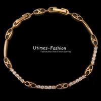 2015 New Small Stone Bracelet Jewelry Women 18k Yellow Gold Plated