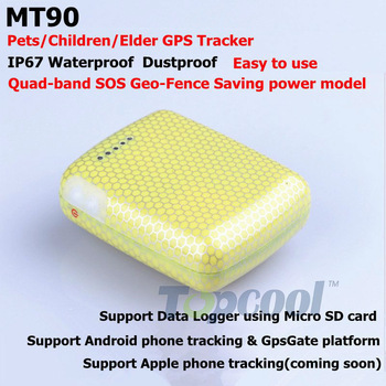 Waterproof GPS Tracker IP67 Mini GPS Receiver MT90 GPS Monitor Android phone tracking &GpsGate  4band Data Logger Micro SD card