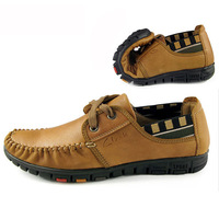 Free shipping,Genuine leather, soft bottom, casual, fashion, trend,  thread, drivers, men's shoes