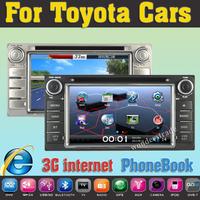 "6.2"" Car DVD GPS for Toyota RAV4 COROLLA VIOS HILUX  Camry Terios Land Cruiser 100 AVANZA FORTUNER PRADO 4RUNNER RunX"