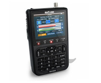 "Satlink WS-6908 DVB-S FTA C&KU Band Satellite Finder Meter 3.5"" LCD USB JPG MP3"