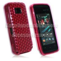 Diamond Hot Pink Hydro TPU Gel Case Armor Skin Cover Protector For Nokia 5530 XpressMusic