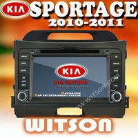 WITSON Factory Price!!!Free shipping 3G Kia new Sportage Car DVD GPS Navigation Bluetooth Radio IPOD Touch Screen Video Audio