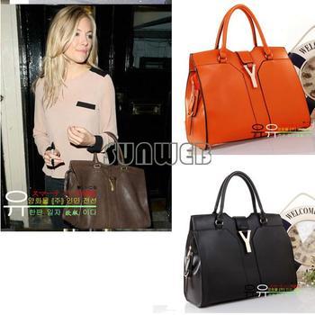 2013 Fashion Europe Lady Women Handbag Satchel bag PU Leather free shipping 3839