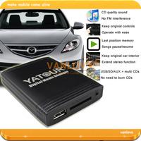 YATOUR Digital Music Changer USB SD AUX MP3 Interface for Mazda 2 3 5 6 BT-50 CX-7 MX-5 RX-8 MPV Tribute (Gift: 8GB USB Disk)