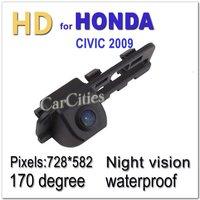 CCD HD CAR camera170 degree for Honda CIVIC 2009 Waterproof Shockproof Night version car camera Size:85*31*32.6mm Drop Shipping