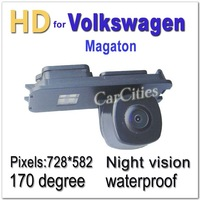 CCD HD Rear view camera Wired170 degree for Volkswagen MAGOTAN Waterproof  shockproof Night version Size:77.3*27.7*48 mm