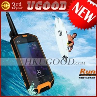 "Freeshipping New MTK6577+Waterproof IP67+Android 4.0+Interphone+4.0""+GPS+Dual Sim+3800mAh battery +Russian=Original Runbo X5"