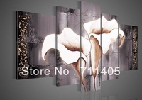 3 Size Free shipping/hand-painted Calla flowers decoration abstract Landscape oil painting on canvas 4pcs/A-058