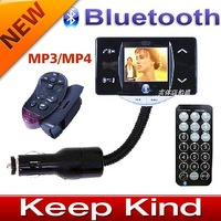 Freeshipping 1.5 inch Car Bluetooth MP3 MP4 player with handsfree Bluetooth phone function