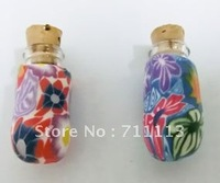 Flower perfume bottle small glass bottle car perfume pendant suitable for oils, perfumes free shipping
