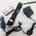 1Set 014 Dimmable Flashlight 7W 500Lm CREE Q5 LED Rechargeable Torch + 3000mAh 18650 Battery + Direct Charger + Car Charger