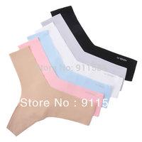 Free shipping 5pcs/lot dupont fabric ultra-thin seamless panties women's sexy t thong plus size #T306