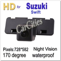 136 CCD camera170 degree for Suzuki Swift Waterproof Shockproof Night version car camera Size:83.5*30*40mm parking camera New