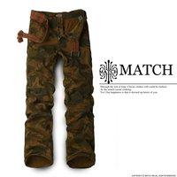 Matchstick 100% cotton desert camouflage men's camo cargo pants 8019M