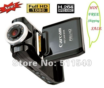 hot Car DVR Night Vision Recorder + Full HD 1080P + Leakless Recording + Car black box free shippment F2000 HD