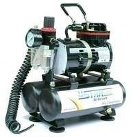 U-STAR Black Eagle Series Mini Air Compressor U-601AH, Twin-Filter, with Twin-Tank, High-Performance, Oil-less & Quiet