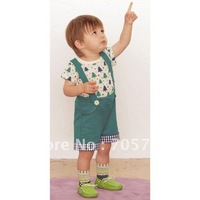 Retail Free shipping Summer children clothing set, children wear, boy shirt + pants set