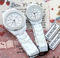 2 Circles Crystal Stone Bracelets Lovers Couples watches SINOBI Fashion japan movement Men Ladies Quartz Watch 2pcs/lot