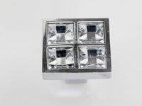 K9 Crystal Glass Chrome Furniture Knobs Cabinet Door New (Diameter: 27MM)