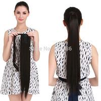 "1Pcs  24""  60cm 130g Women  Ponytail  Hair Extensions  Fashion Straight Pony Tail  Good Quality Free Shipping P001"
