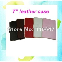 Protective Leather Case Cover Cheap for 7 inch Tablet PC, Ebook Reader GPS MP5,7 Colors Available 10PCS Free Shipping