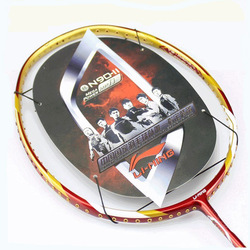 lining badminton racket N90-II with varieties of gifts, 5pcs, red color(China (Mainland))