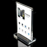 A4 size acrylic showing stand  ipad security display stand : SSLT-ZJ-T08
