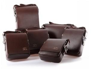 Fashion Kangaroo Mens Leather Crossbody Shoulder Messenger Bag Briefcase 2 Colors 2 Versions Free Shipping