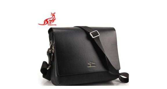 Fashion Kangaroo Mens Leather Crossbody Shoulder Messenger Bag Briefcase 100