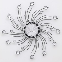 A040 Free shipping  Acrylic Star-sky Novelty Home Decoration Wall Clock 2014 NEW Modern Design,Wall Decor