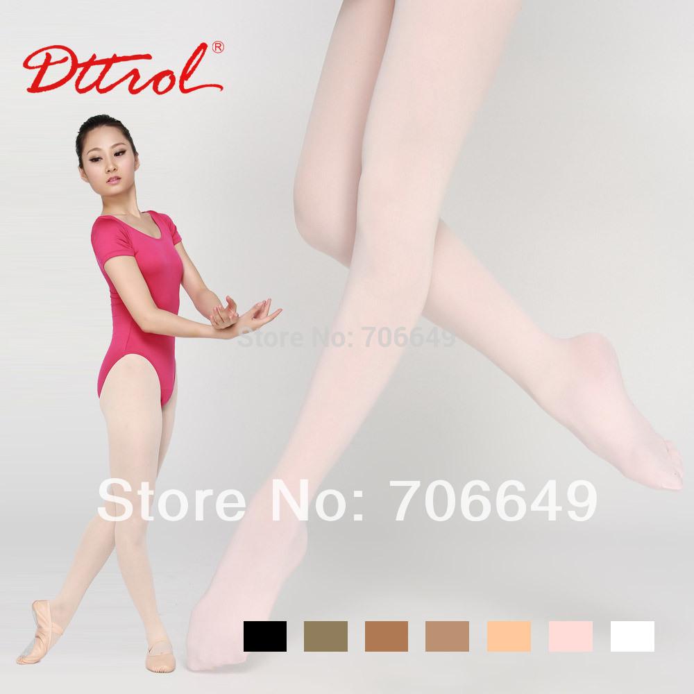 Колготки балета танцульки девушки Dttrol Footed с диапазоном шкафута и gusset (D004819) .