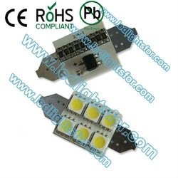 20pcs/lot free shipping c5w car led 6 LED SMD5050 No Polarity,festoon reading led,festoon 31mm/36mm(China (Mainland))