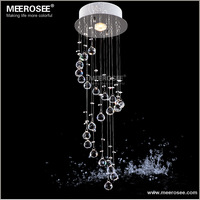 Hot selling Crystal Chandelier Ceiling Light Fixture Spiral Crystal Hanging Pendant Lamp Hallway bedroom MD3037 D220mm H660mm