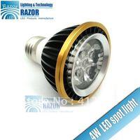 Free Shipping!GU10 / E27 led Bulb, 4W taiwan LED spot light,400lm!AC85-265v,Ra80,bar /home /hotel /shop indoor ceiling lighting