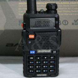 Free shipping 5Watts Dual band dual display two way radio BAOFENG UV-5R walkie talkie(China (Mainland))