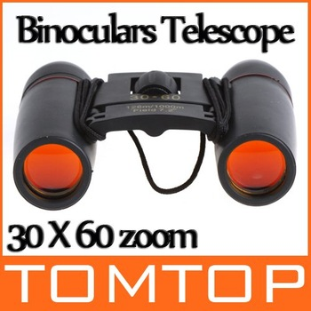 30X60 Zoom Mini Binoculars Telescope Folding Night Vision 126m/1000m with Retail Box H8784 Drop Free Shipping Wholesale