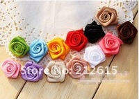 Small rose flower hand made, satin silk rose applique, decoration 200pcs/bag  mix color, free shipping