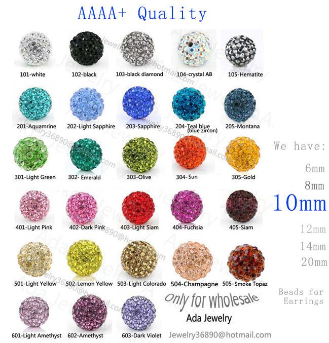 Браслеты из бисера Браслет из бисера Can mix colors, Shamballa Beads 10mm, 100% AAAA Qulity Shamballa Bracelet Crytal...
