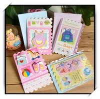 16pcs/lot Creative 3D Cartoon Greeting Cards With Envelopes For Baby Kid's Gift Cute Design Message Card(AKL-005)